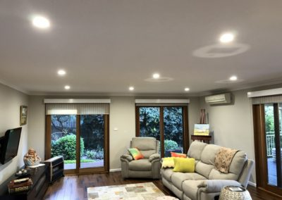 Springwood LED downlight installation
